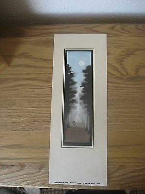 Antique Matsumoto Studio Japanese Hand Painted Water Colour Atmospheric Signed