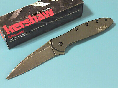 KERSHAW 1660BLKW LEEK BlackWash SpeedSafe assisted open linerlock knife USA NEW!