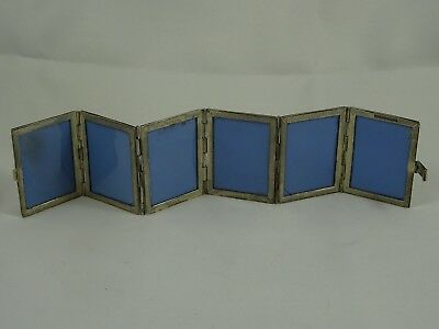 STERLING silver 6 section PHOTO FRAME, c1950