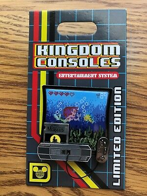 Disney Parks Pin of the Month Kingdom Consoles Little Mermaid Pin LE 4000