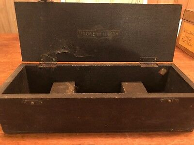 Vintage Wooden Storage Box Moore & Wright