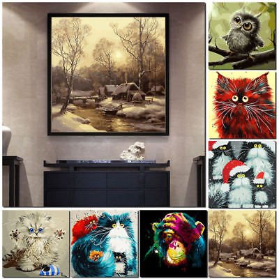 Unframed Digital DIY Paint By Number Kit Flowers Oil Painting Linen Wall UDG