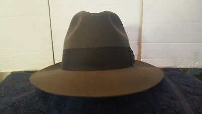 5377633a3d4 Bailey of Hollywood Gangster Hat Wool Fedora Size  Large Gray Excellent