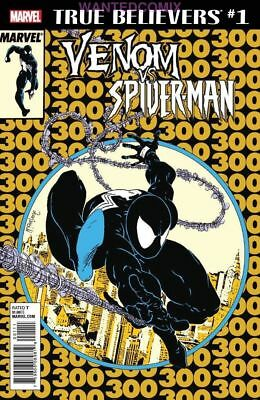 TRUE BELIEVERS VENOM VS SPIDER-MAN #1 2nd PRINT GOLD VARIANT COVER AMAZING #300