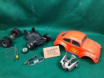 Vintage Cox gas powered Baja Bug VW Beetle tether car Parts-project 049