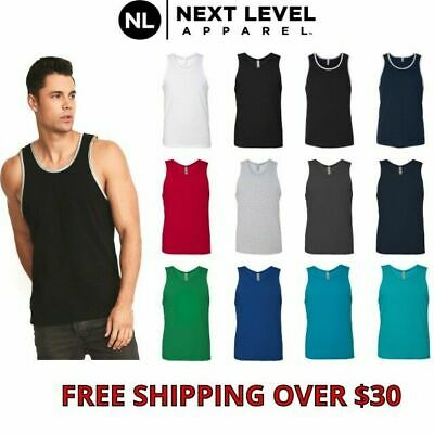 4abe5a53cd587 Next Level Men s Soft Jersey Premium Tank Top Solid Athletic S-2XL 3633