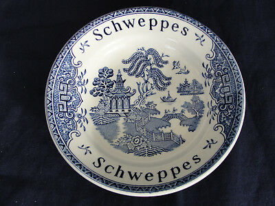 Vintage Enoch Woods Blue Willow Schweppes Coaster Tip Dish