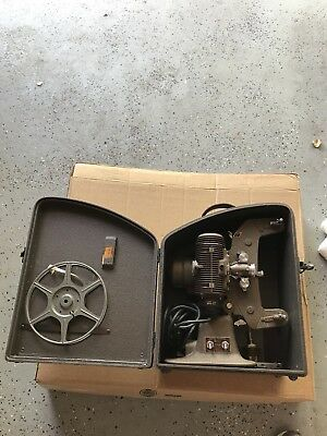Bell & Howell Filmo Regent 8mm Movie Projector With Case Reel