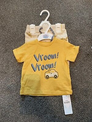 Marks And Spencer's Baby Boys Outfit 2 Piece Set  Age 12 / 18  Months M & S BNWT
