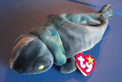 Ty Beanie Babies Chameleon Rainbow 10141997 Dark Color