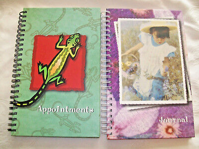 Lot of 2 Blank Page Spiral Lined Journals 1 Appointment Book 1 Diary NEW