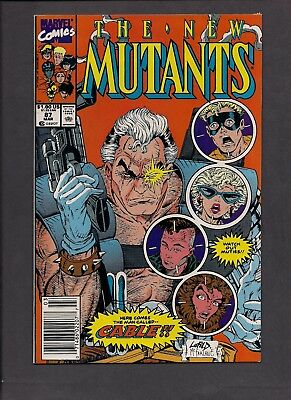 New Mutants #87, First app of Cable - News stand print (March 1990 - Marvel)