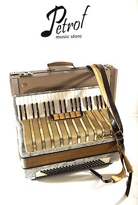 Hohner Concerto Iv 120 Bass -Top German Piano Accordion+Org.case~Super Condition