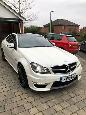2012 (12) Mercedes C63 Amg Coupe 6.3 Edition 125 (540Bhp)Pearl White