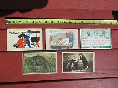 Lot of 5 Postcards Vintage 1907 to 1918 including Spring Tail Elephant
