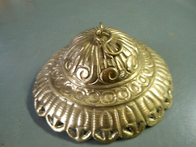 Antique Victorian Hanging Oil Lamp Pressed Brass Smoke Bell