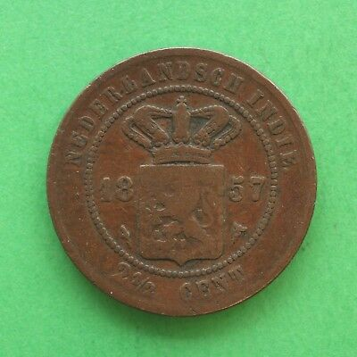 1857 Netherlands East Indies 2 1/2 Cents SNo40498