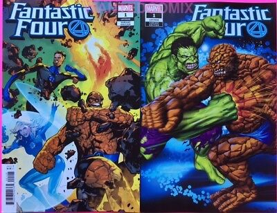 Fantastic Four #1 Greg Horn Store Variant Cover & Lupacchino 1:25 Comic Book Set