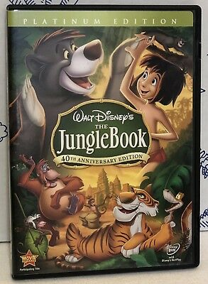 Disney The Jungle Book Two 2 Disc 40 Anniversary Platinum Edition DVD Kids Movie