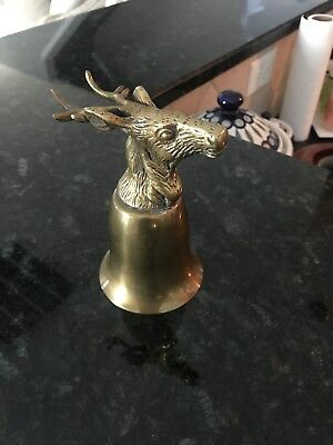 Vintage Silver Brass And Gold Plated Head Hunting Stirrup Cup Goblet Stag