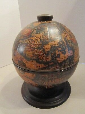 Vintage Old World Globe Tabletop Bar Ice Bucket - Made in Italy. Mid Century Mod