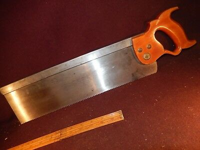 Disston back saw #4, very nice, collectible-user