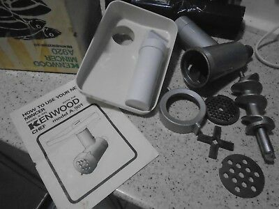 Vintage Kenwood Chef A920 Mincer Attachment, Boxed