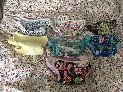"""Blueberry diaper covers, """"mini"""" size, set of 7"""