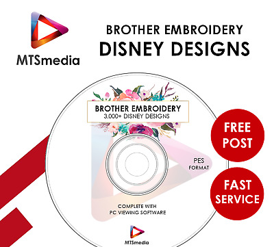 3500+ Disney Brother Embroidery Designs Pes With Pc Viewing Software