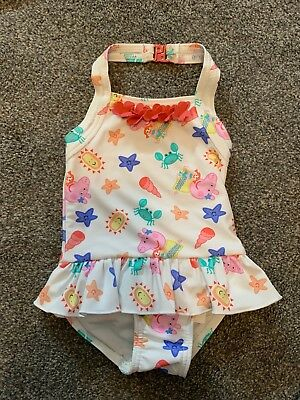 07e527bfe7589 M&S BABY GIRL SWIMSUIT SWIMMING COSTUME 3 - 6 MONTHS Pink Gingham ...