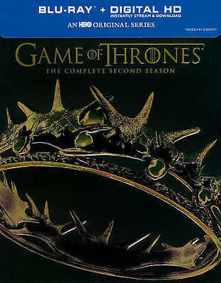 Game of Thrones: The Complete Second Season (Blu-ray Disc + Digital) Brand New