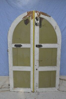 Genuine pair of Victorian Arched and pair of Square Cupboard Doors
