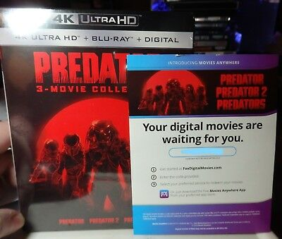 Predator Trilogy Collection 3-Movies Digital HD Codes only