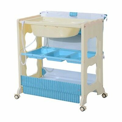HOMCOM Baby Changing Table Station Portable Changer Baby Storage Bath Tub Unit D