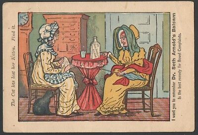 Dr Seth Arnolds Balsam Advertising TradeCard The Cat Has Lost Her Kitten Find It