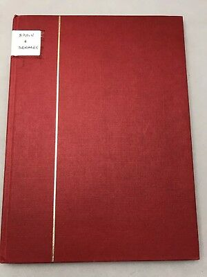Collectors Stamp Book With Stamps Spain And Denmark