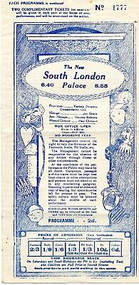 SOUTH LONDON PALACE 1929 'PARIS 1929' ARTHUR LUCAN & KITTY McSHANE PROGRAMME.