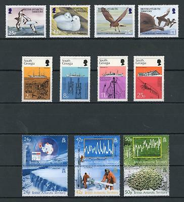 British Antarctic Territory etc Modern Birds and Ships Sets MNH (14 stamps)