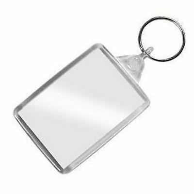 Clear Acrylic Photo Keyring - Personalise – Plastic 70Mm X 45Mm