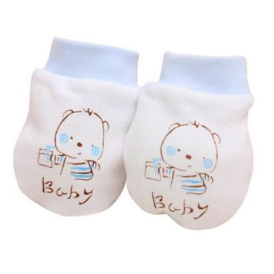 Lovely Baby  Anti Scratch Teething Mittens Gloves for Newborn Boys & Girls Blue