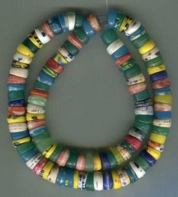 African Trade beads Vintage Czech Bohemian pressed old 10mm glass Kakamba beads