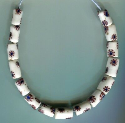African Trade beads Vintage Venetian old glass beads matched millefiori bear paw
