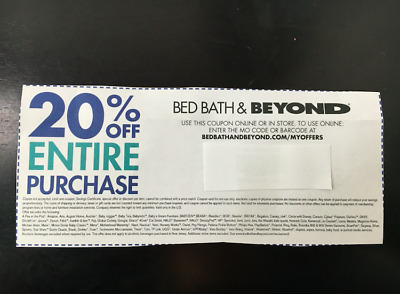 Bed Bath & Beyond 20% Off Entire Purchase Coupon Discount Exp 1/31/19