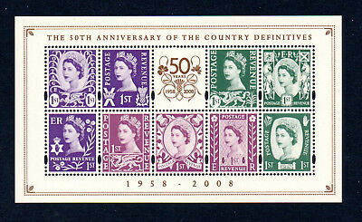 GB 2008 50th Anniv Defins. Mini Sheet. Mint MNH. One postage for multi buys.