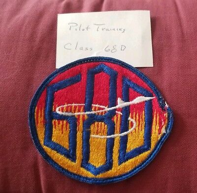 Vintage Military Patch Pilot Training Class 680 Arefs Air Refueling Squadron