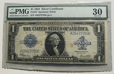 $1 1923 Silver Certificate Pmg Vf30 Free Shipping