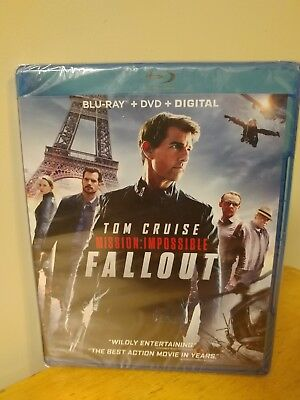 Mission: Impossible: Fallout (Blu-ray + DVD +  Digital + Slip) FACTORY SEALED