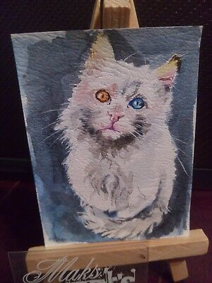 Original ACEO  dec 17 Cat