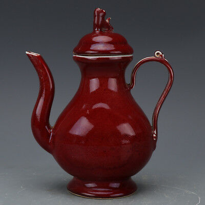 Fine Chinese Ming Dynasty Red Glaze Porcelain Teapot
