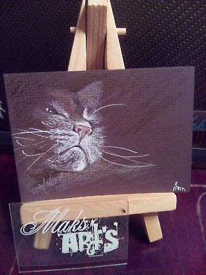 ACEO Original Art Painting Cat 41 by Maksimova Anna
